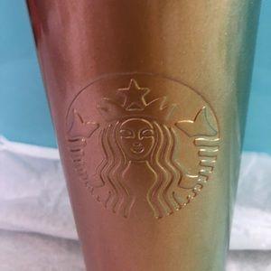 Starbucks Peach/Green Tumbler
